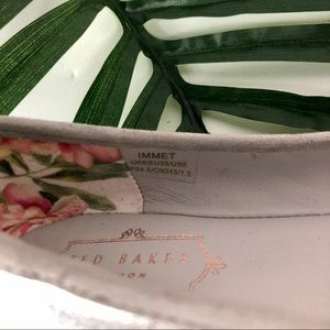 Ted Baker London Shoes - TED BAKER London Immet Silver Ballet Flats 8